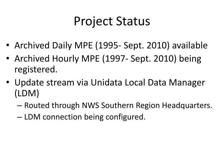 Project Status
