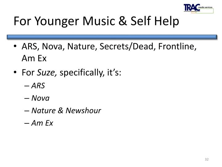 For Younger Music & Self Help