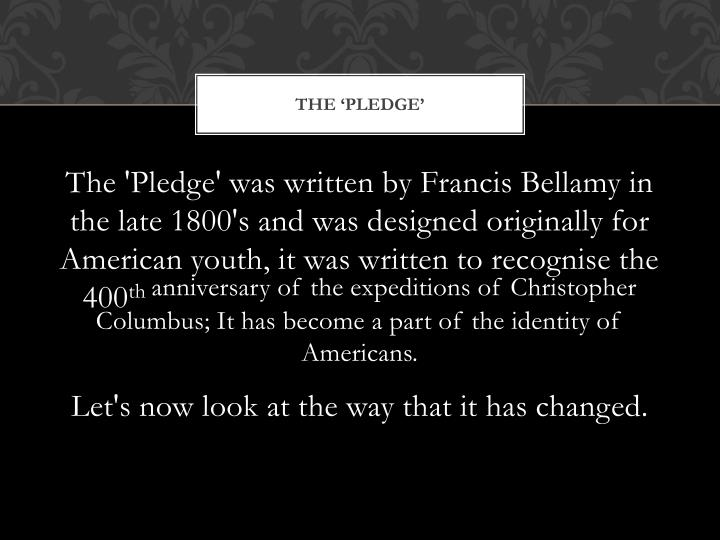 The 'Pledge'