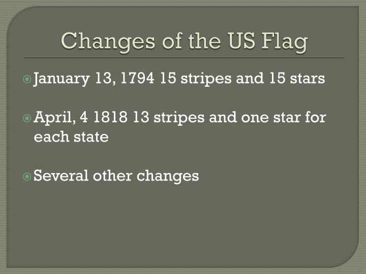 Changes of the US Flag