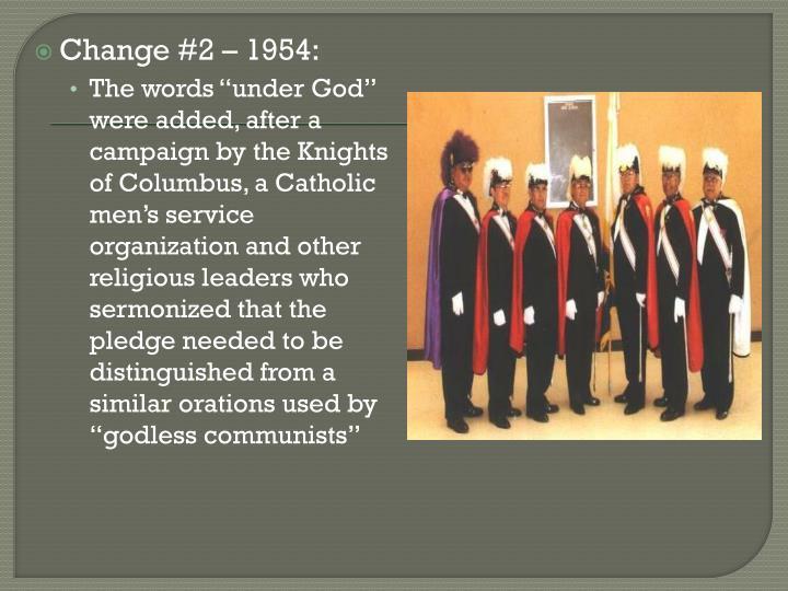 Change #2 – 1954: