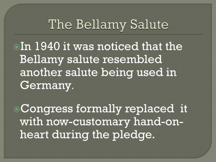 The Bellamy Salute