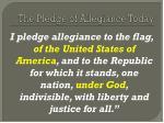 the pledge of allegiance today