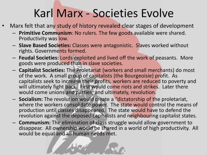 Karl Marx - Societies Evolve