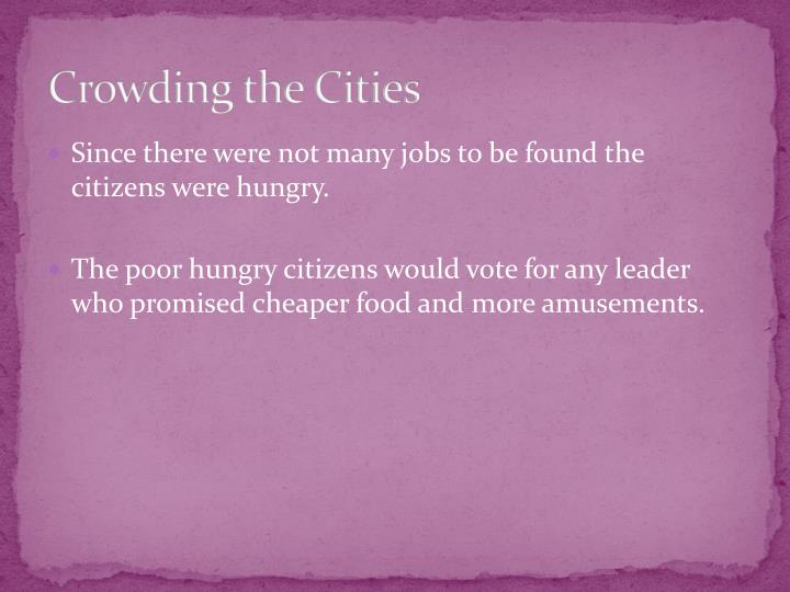 Crowding the Cities