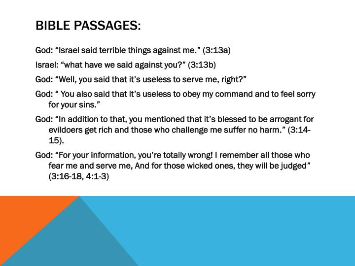 Bible Passages: