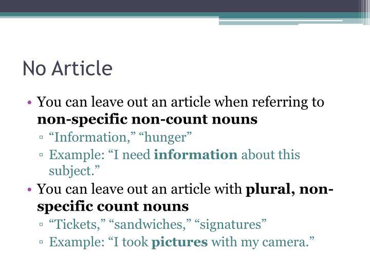 No Article