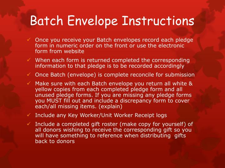 Batch Envelope Instructions