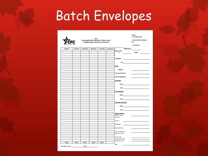 Batch envelopes