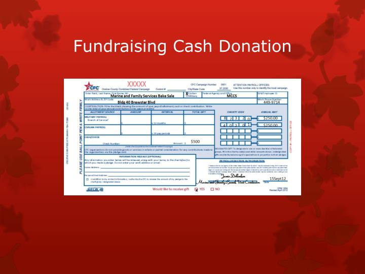 Fundraising Cash Donation