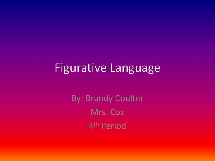 Free PowerPoint Presentations about Figurative Language