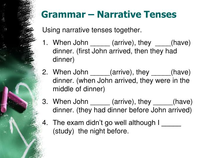 Grammar – Narrative Tenses