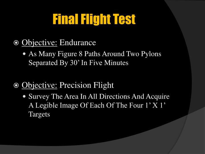 Final Flight Test