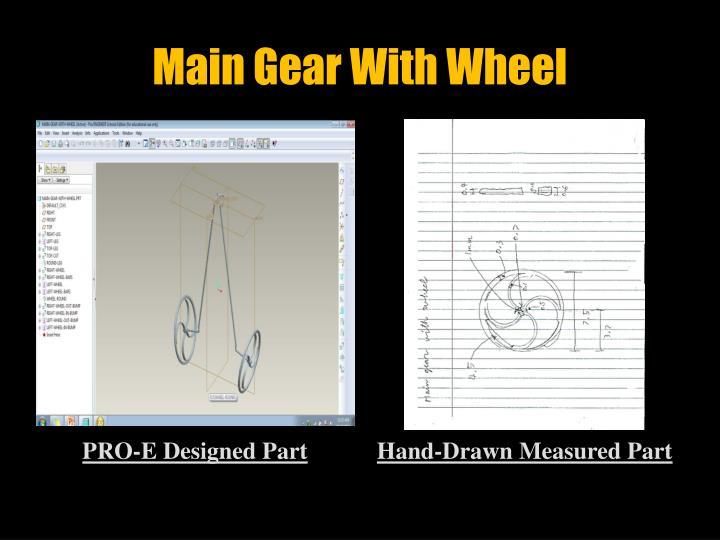 Main Gear With Wheel