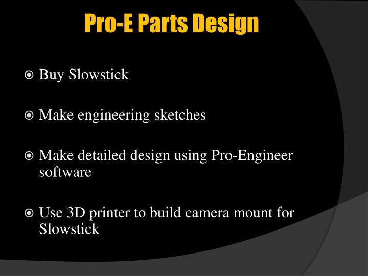 Pro-E Parts Design