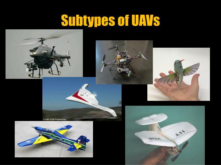 Subtypes of UAVs