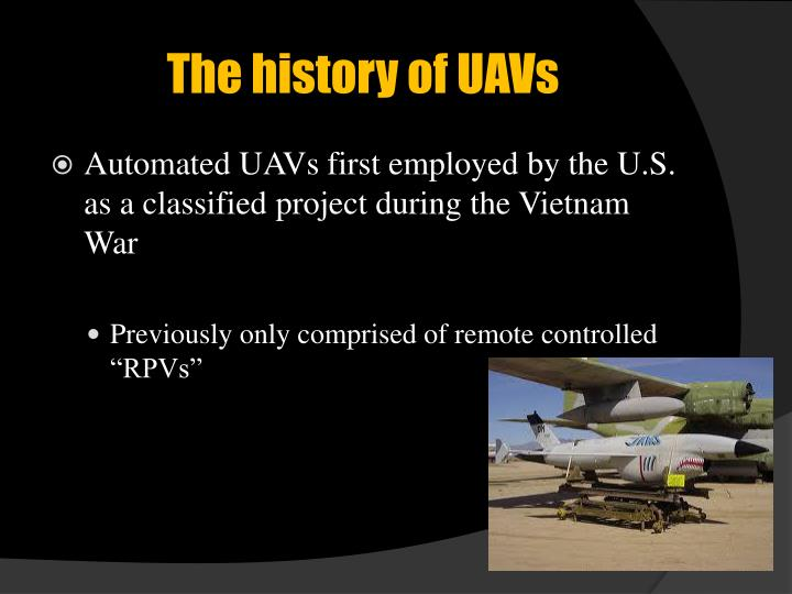 The history of UAVs