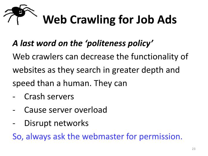 Web Crawling for Job Ads