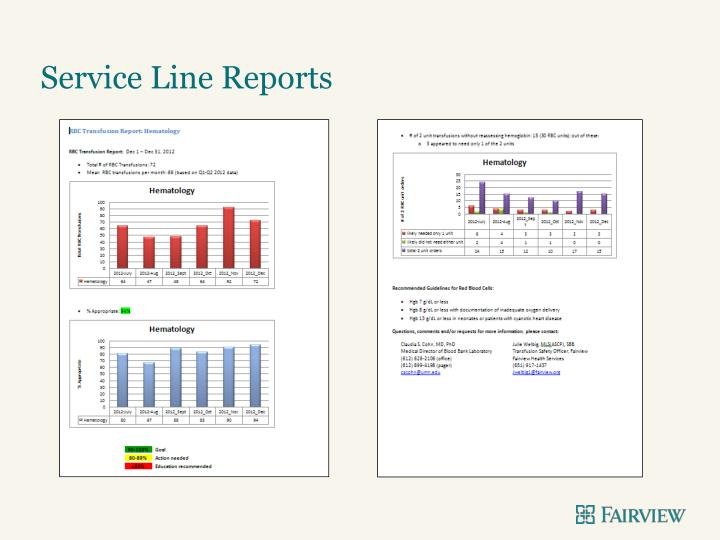 Service Line Reports