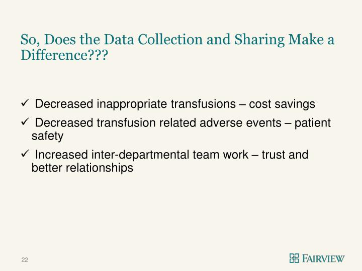 So, Does the Data Collection and Sharing Make a Difference???