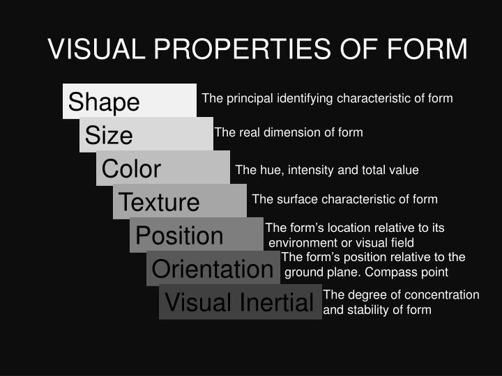VISUAL PROPERTIES OF FORM