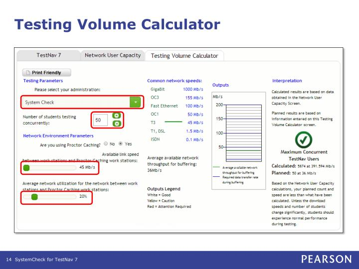 Testing Volume Calculator