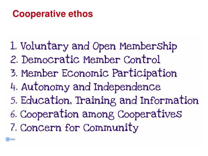 Cooperative ethos