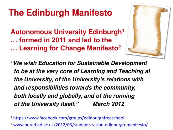 The Edinburgh Manifesto
