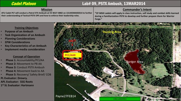 Lab# 09, PSTX Ambush, 13MAR2014