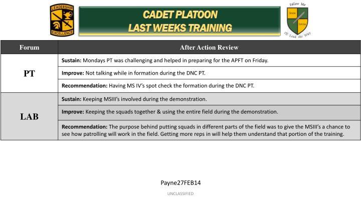 CADET PLATOON