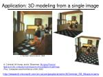 application 3d modeling from a single image
