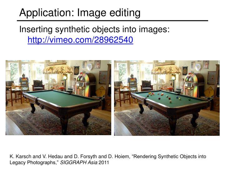 Application: Image editing