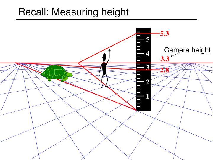 Recall: Measuring