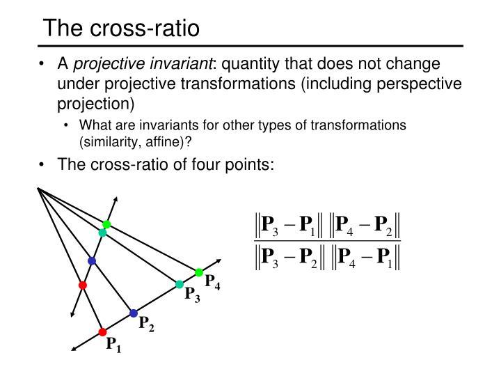The cross-ratio