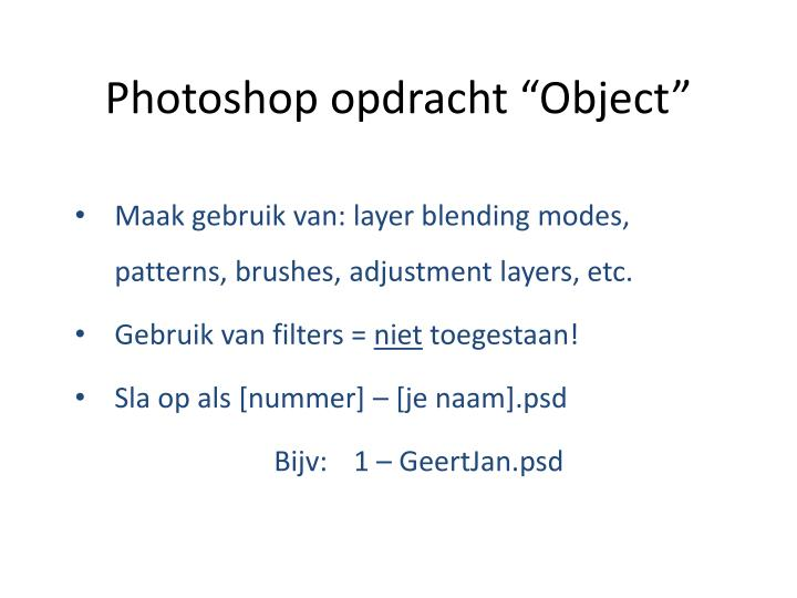 Photoshop opdracht object2
