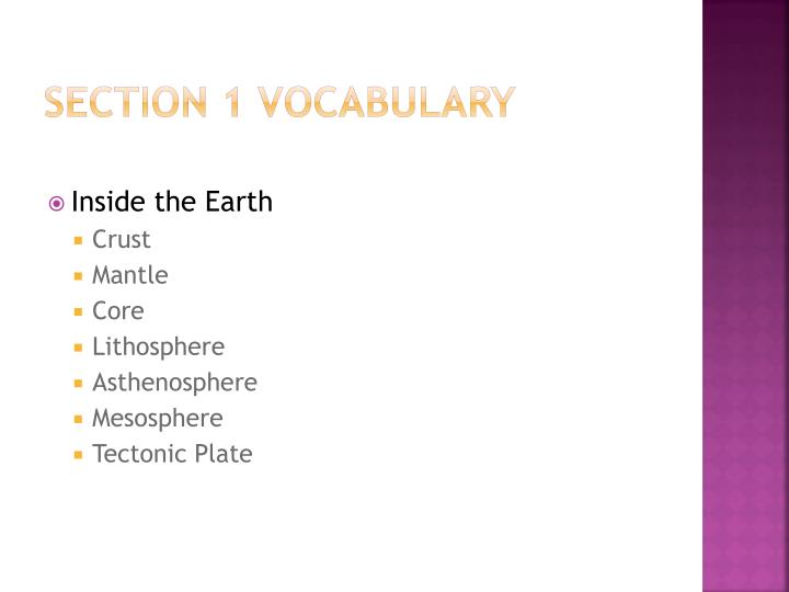 Section 1 vocabulary
