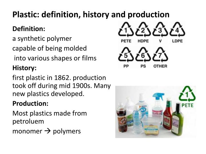 Plastic definition history and production