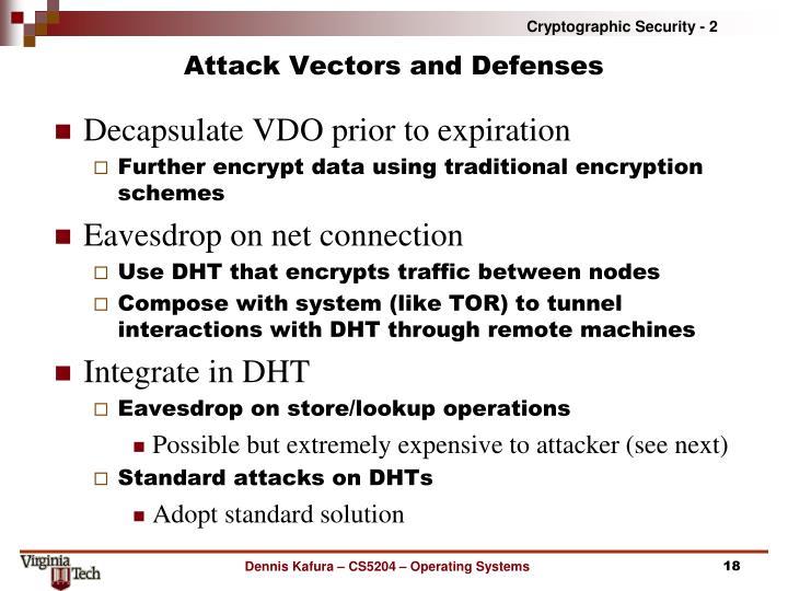 Attack Vectors and Defenses