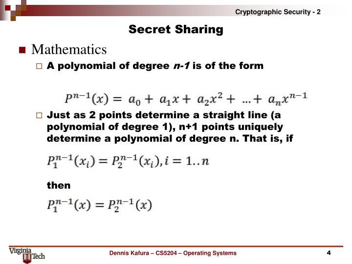 Secret Sharing