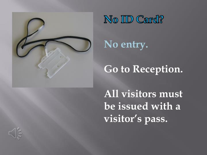 No ID Card?