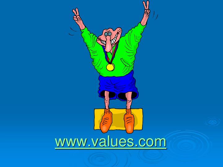 www.values.com