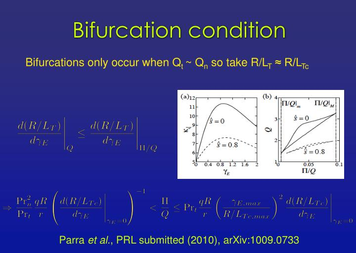 Bifurcation condition