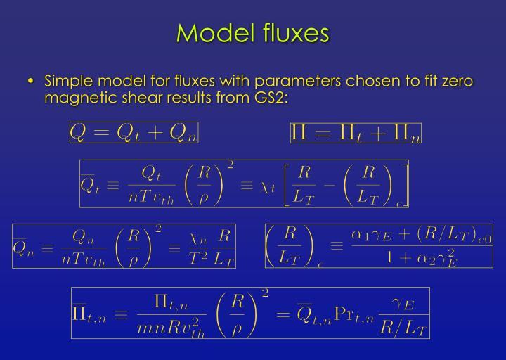 Model fluxes