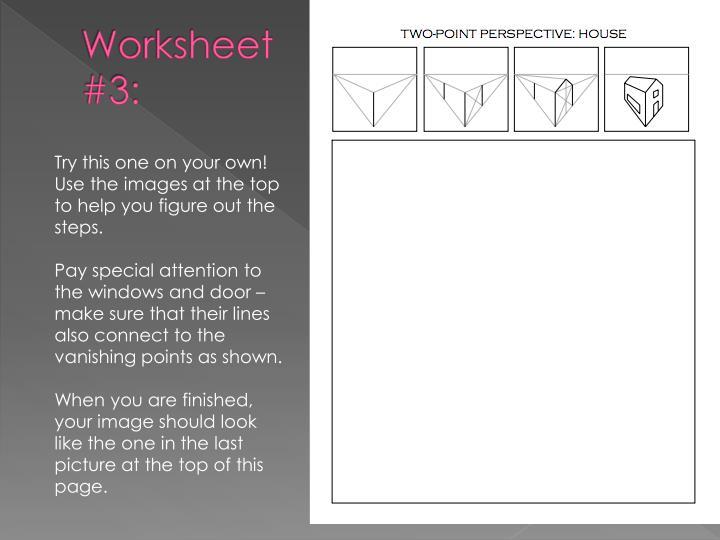 Worksheet #3: