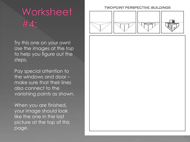 Worksheet #4: