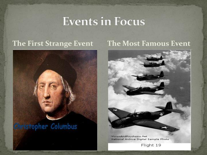Events in Focus