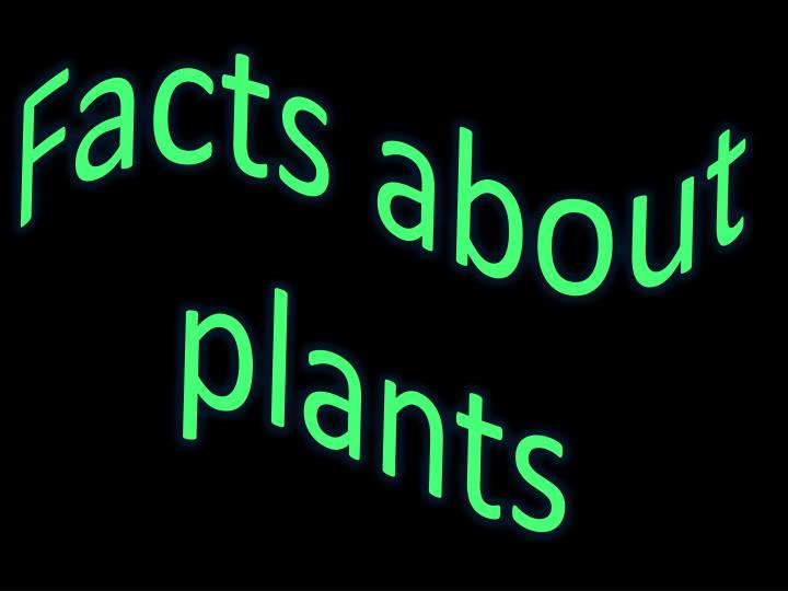 Facts about plants