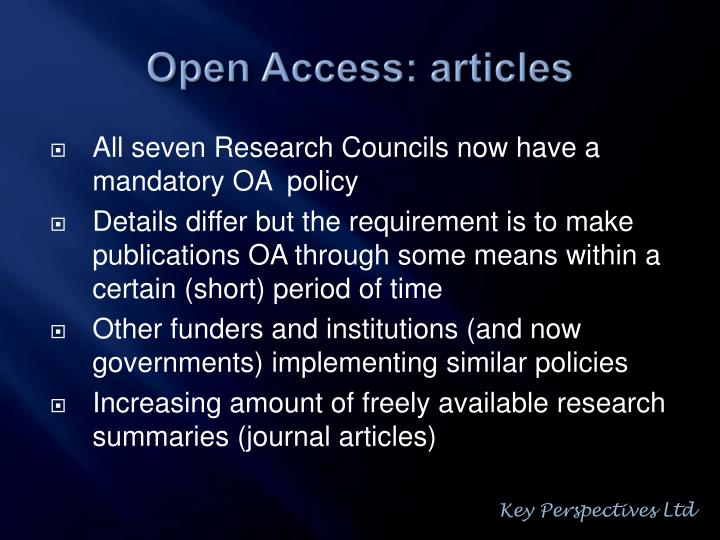 Open access articles