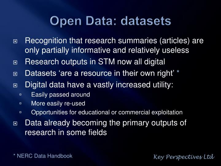 Open data datasets
