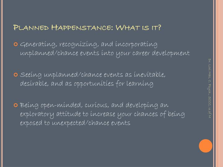 Planned Happenstance: What is it?